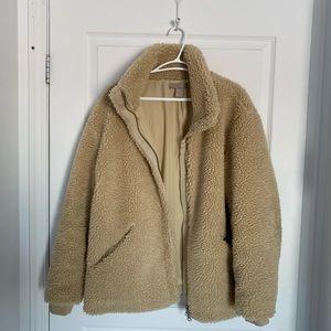 Teddy jacket tan